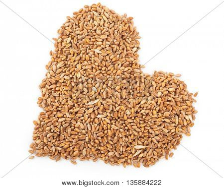 wheat in the form of a heart