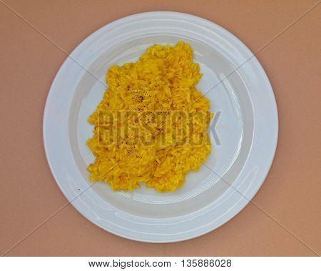 Saffron Risotto In A Dish