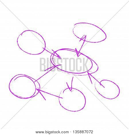 illustration of hand draw circles icons on white background