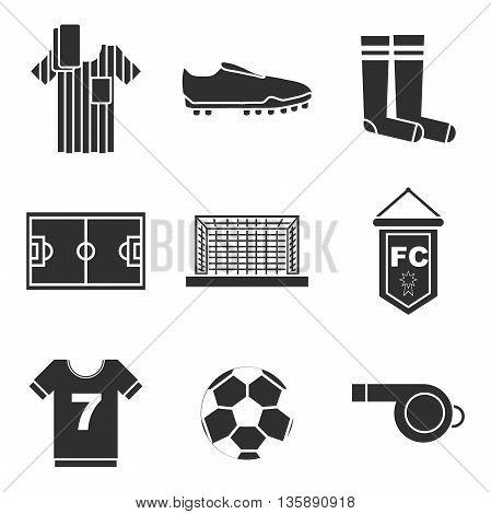 Design Football. Soccer Icons Set. Vector illustration, EPS 10