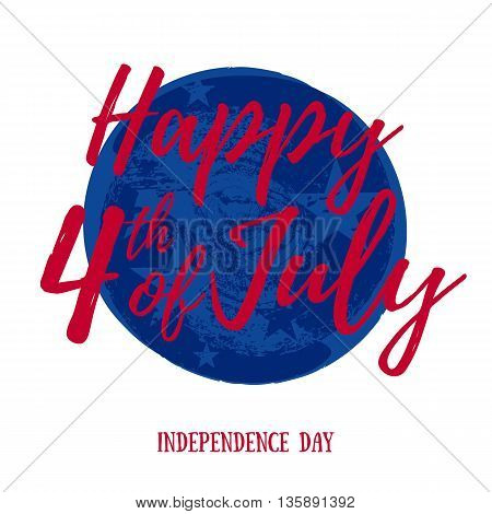 4th July Independence day background design. National day USA holiday banner poster greeting card.