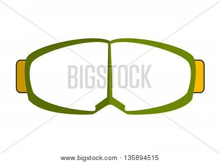 Goggles Isolated On White Background. Protecting Goggles Vector Illustration.