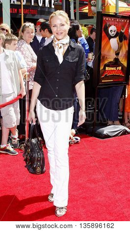 Maria Bello at the Los Angeles premiere of 'Kung Fu Panda' held at the Grauman's Chinese Theater in Hollywood, USA on June 1, 2008.