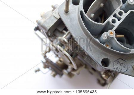 Carburetor On White Background