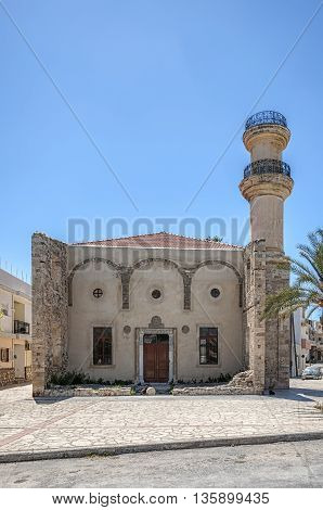 Turkish mosque in the town of Lerapetra on the Greek island of Crete.