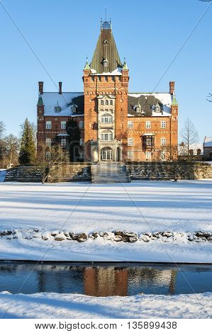 The historic Trollenas castle situated near to the swedish town of Ekeby.