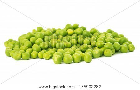 farming agriculture green peas on a white background