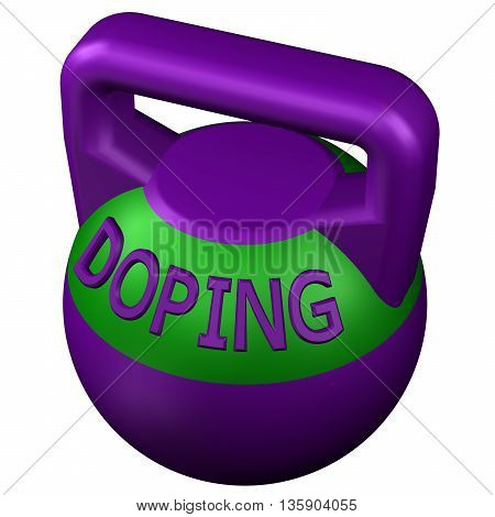 Concept: Sports doping isolated on white background. 3D rendering.