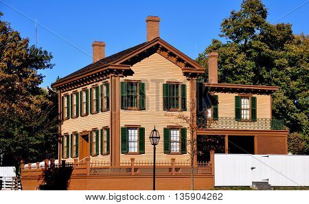 Springfield Illinois: The Abraham Lincoln Home National Historic Site residence of America's 16th President