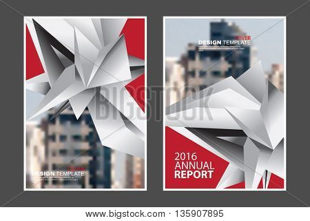 Two A4 size, abstract geometric elements marketing business corporate design template. eps10 vector