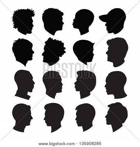 Head shots Silhouettes, Profile Silhouettes, Cameo Silhouettes, Clipart Silhouettes