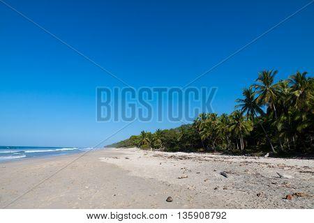 Wild Natural Beach in Santa Teresa, Costa Rica Pacific Coast.