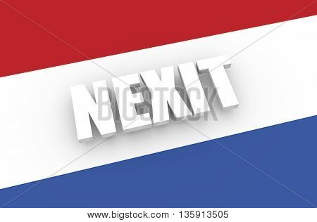 Netherlands and European Union relationships relative image. Nexit named politic process. 3D rendering