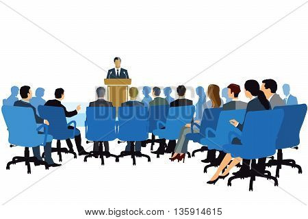 Lecture, Consulting, Meeting Event, business people, spectators,