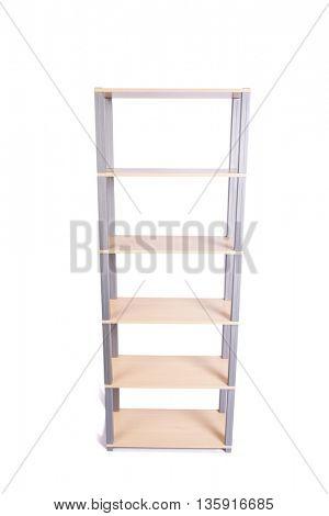 Office shelf isolated on the white background