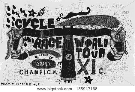 Symbolic image of the steering wheel sports bike