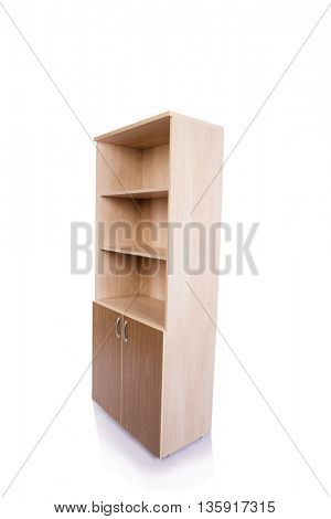 Office cabinet shelf isolated on white background