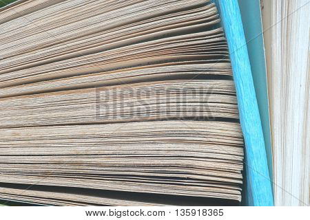 View of book pages. Thousand Page Book Background