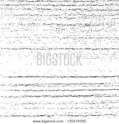 Black Grainy Texture Isolated On White.