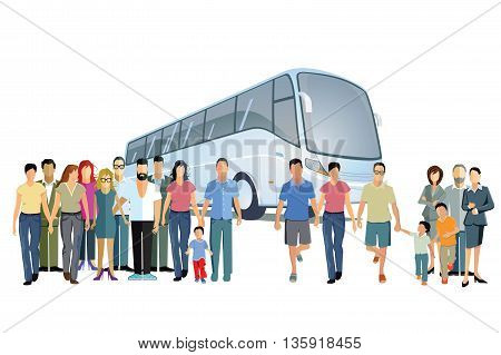 Bus travel, transportation, road, traffic, isolated, driving, tourism,