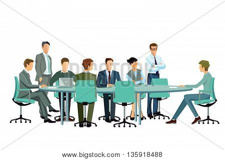 Meeting in the group, communication, team, conference