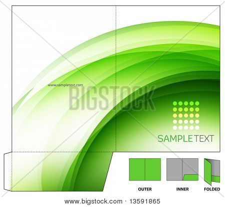 Vector Folder Design Template