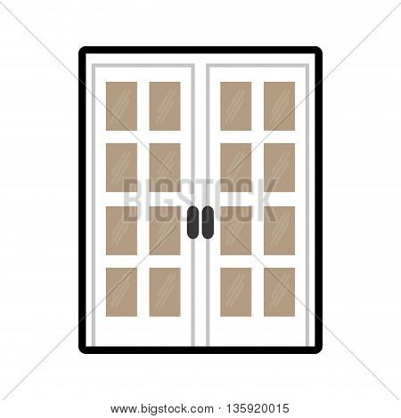 House concept represented by door icon. isolated and flat illustration