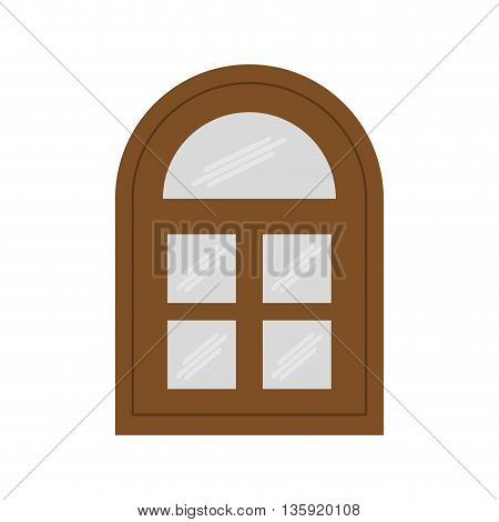 House concept represented by window icon. isolated and flat illustration
