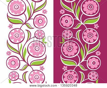vertical seamless floral pattern.