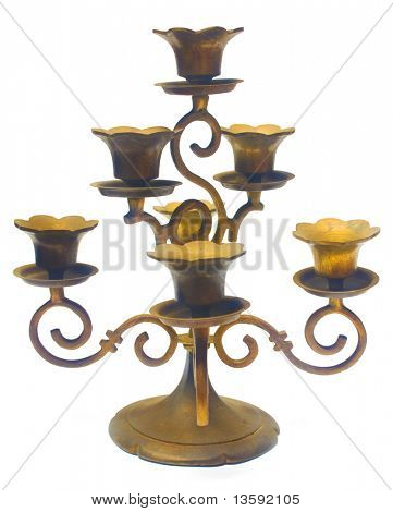 Antique Nyonya Candlestick, Clipping Path Included