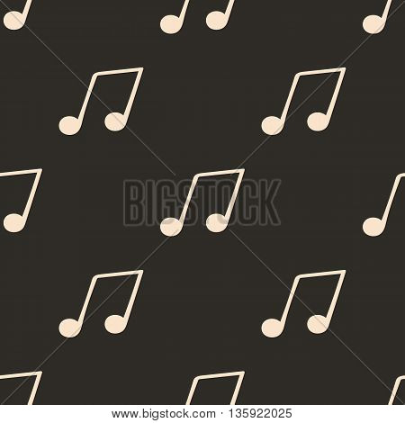 Pastel pink notes on brown background pattern. Vector illustration.
