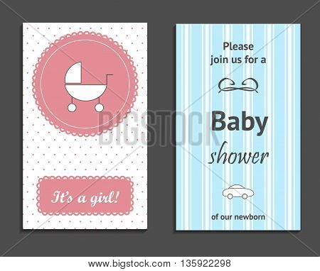 Baby Shower Invitation for boy and girl