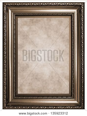 Antique wooden frame - Sepia toned image in retro style