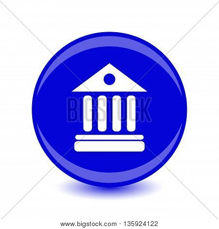 University Icon Isolated on blue Background. Vector illustration.