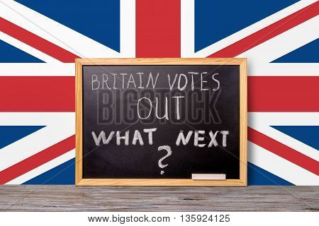 Brexit Uk Eu Referendum Final Results Concept For Out Of Great Britain From Rest European Union And