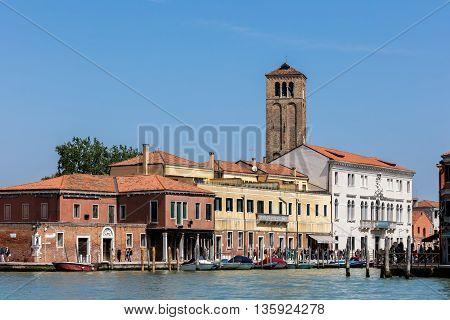 Murano Island And The Church Of Santa Maria E San Donato.