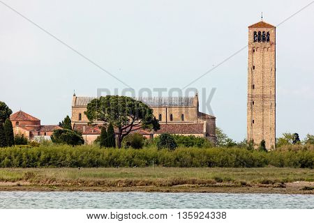 11th century Santa Maria Assunta Cathedral on the sparsely populated Torcello island at the northern end of the Venetian Lagoon in north-eastern Italy.