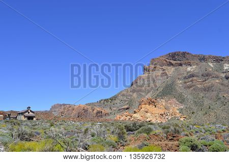A view of Mount Teide National Park in Tenerife