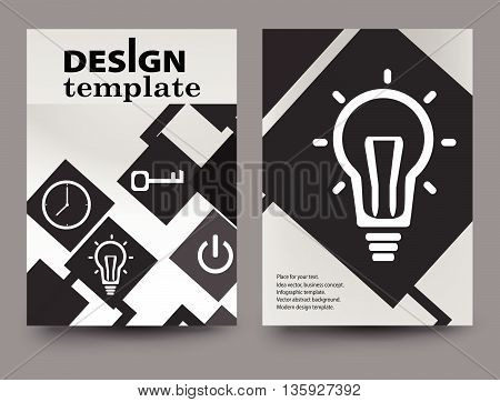 Brochure design template.Vector Brochure Flyer design Layout template size A4 Front page and back page.Abstract business brochure design..Report brochure flyer design template vector.