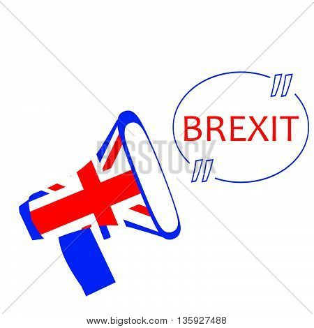 Brexit vector illustration.European Union and England torn flags.Brexit cracks. United Kingdom exit from europe vector.Brexit concept. British flag.