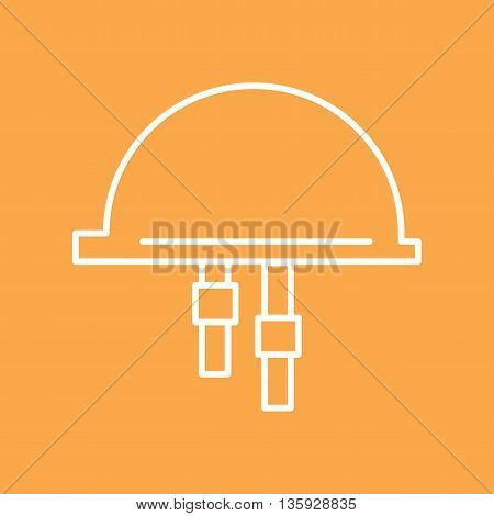 Personal protection. Protective construction helmet. Vector illustration.