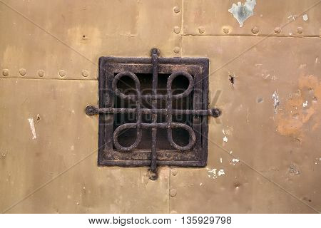 Small Wrought Grating Window