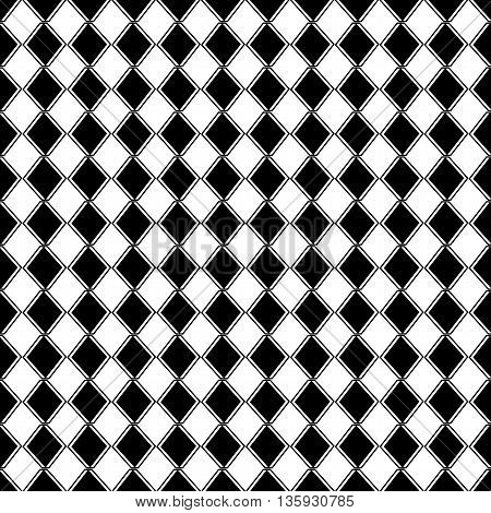 Black rectangle on white background. Seamless pattern. Abstract background.