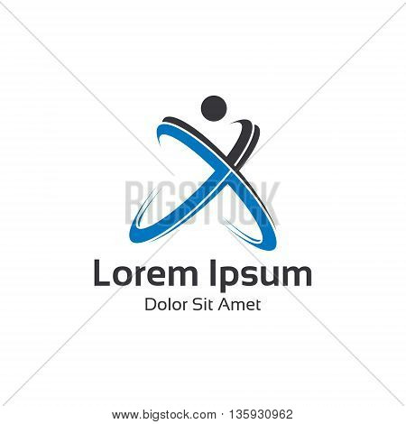 People Care Logo Design Vector,family Logo,fitness Elements Vector.