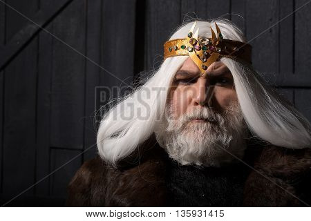 Bearded Man With Crown