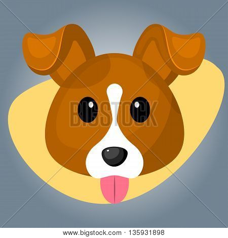 Cute Dog Colorful Icon