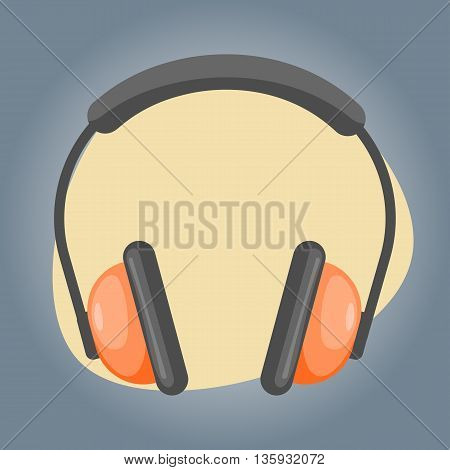 Vector Headphones Cartoon Icon
