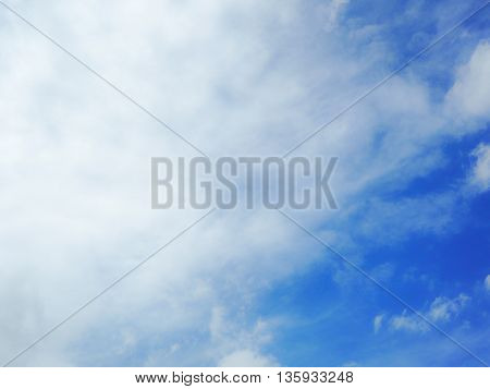 big white clouds on the blue sky