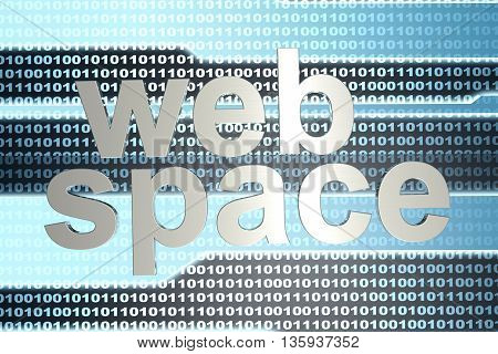 Digital webspace and binary code. 3D illustration.