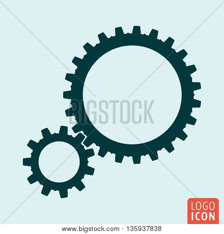 Gears icon isolated. Teamwork symbol. Vector illustration